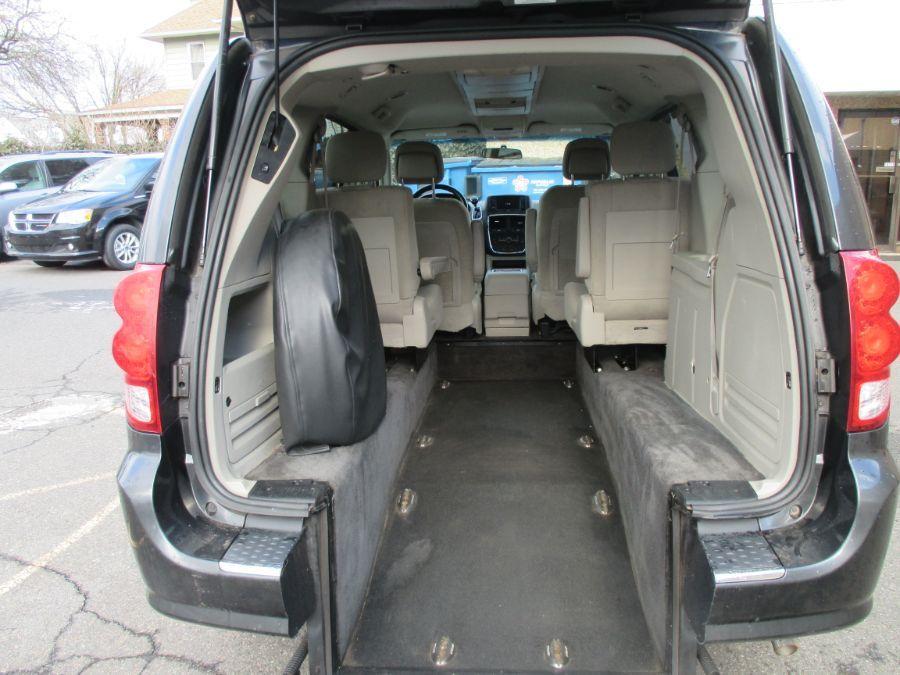 Gray Dodge Grand Caravan with Rear Entry Manual  ramp