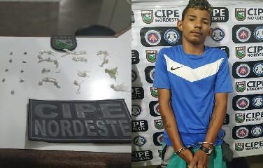 Ele foi preso com 31 pedras de crack