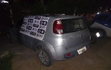 Fiat-Uno que havia sido roubado.