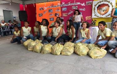 A gincana incentivou o espírito de solidariedade nos alunos