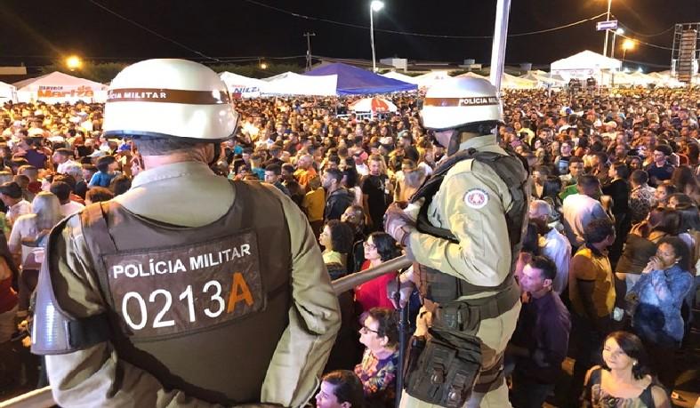 Efetivo foi reforçado nos locais onde a festa ocorreu, como na Avenida Nilton Oliveira Santos