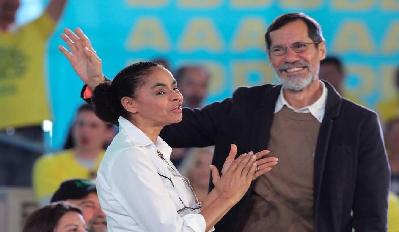 Marina Silva, candidata à Presidência da República pela Rede; Eduardo Jorge (PV) é candidato a vice