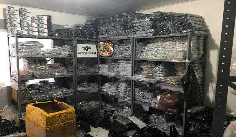 A apreensão fez parte de uma ação coordenada de combate a crimes de contrabando, descaminho e falsificação.