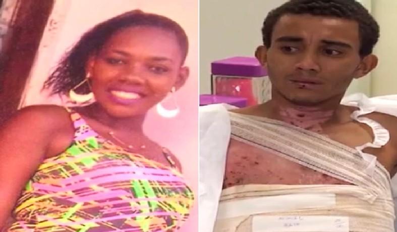 Daiane dos Santos Lima será indiciada pro tentativa de homicídio depois de atear fogo no corpo do namorado, Eduardo Quirino da Silva