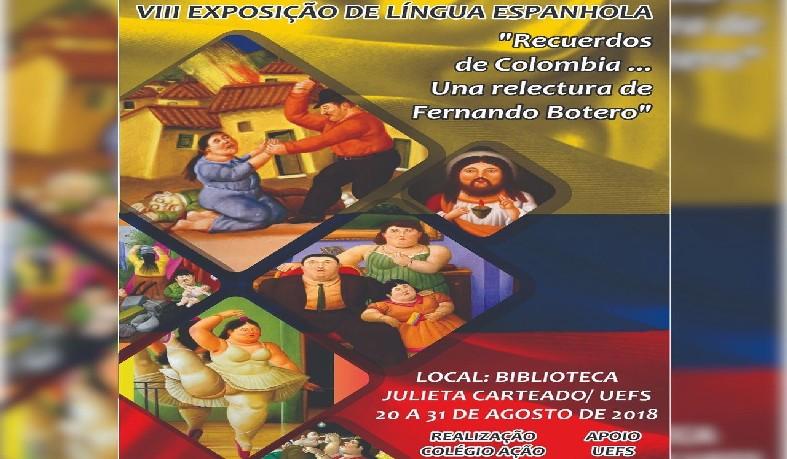 """Exposição Literária Espanhola: """"RECUERDOS DE COLOMBIA""""."""