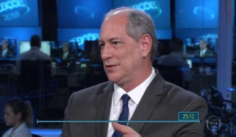 O candidato do PDT à Presidência da República falou ao Jornal Nacional, da TV Globo, nesta segunda (27)