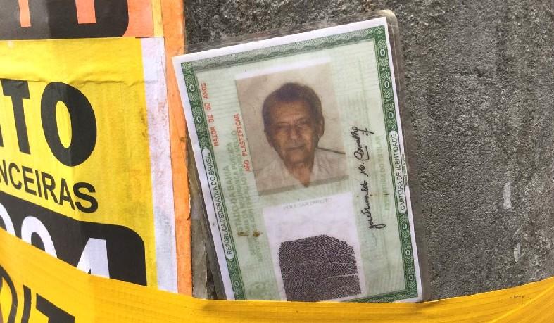 José Hunaldo desapareceu durante incêndio em casarões na Baixa dos Sapateiros