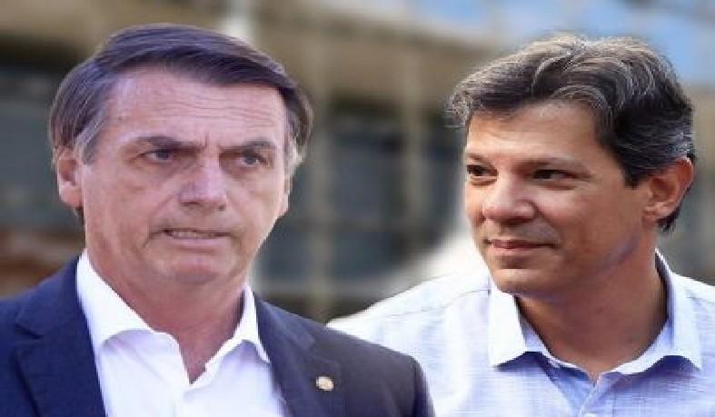 Jair Bolsonaro (PSL) e Fernando Haddad (PT) devem disputar o segundo turno das eleições presidenciais.