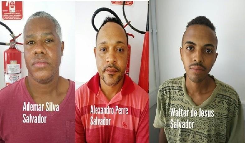 Os detidos são de Salvador