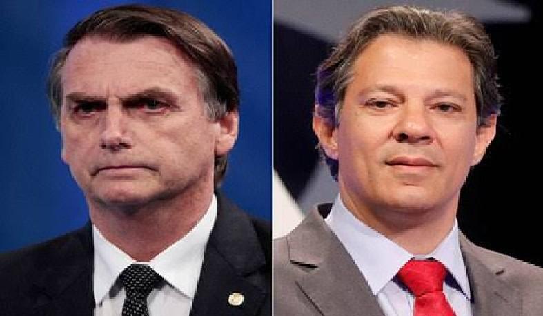 Na pesquisa anterior do instituto, Bolsonaro tinha 59% e Haddad, 41% dos votos válidos.