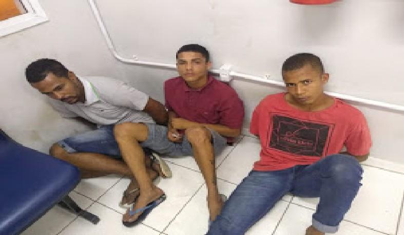 Criminos presos pela polícia