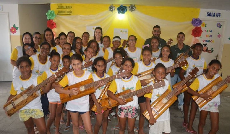 Projeto é uma parceria da prefeitura de Santaluz com o 'Som do Sisal', e vai atender crianças e adolescentes usuários do Serviço de Convivência e Fortalecimento de Vínculos