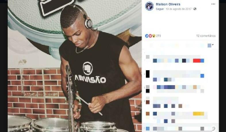 Percussionista foi morto a tiros em Salvador