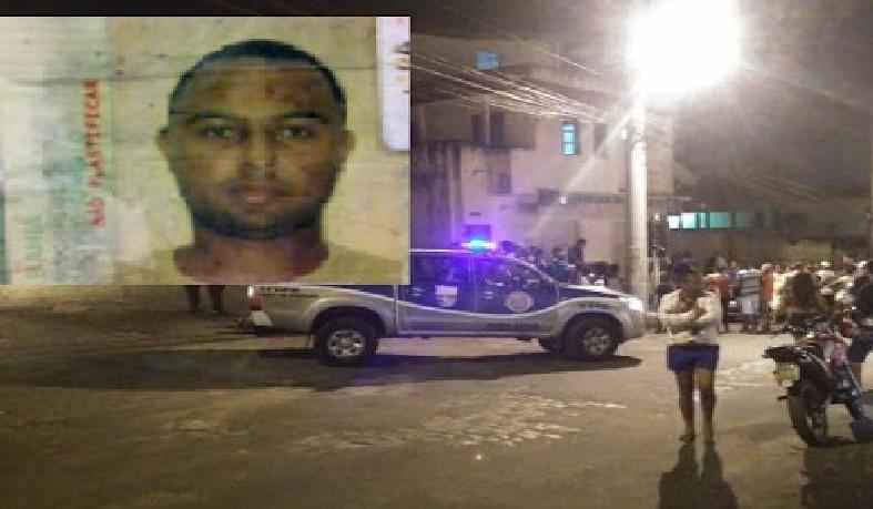 Vitima foi atingida por três tiros, na cabeça, peito e braço.