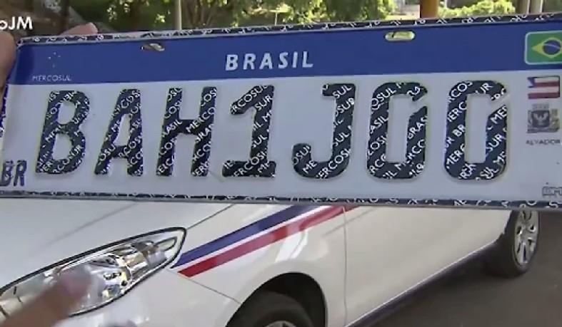 Placas padrão Mercosul serão instaladas na Bahia a partir dessa quarta-feira, dia 2