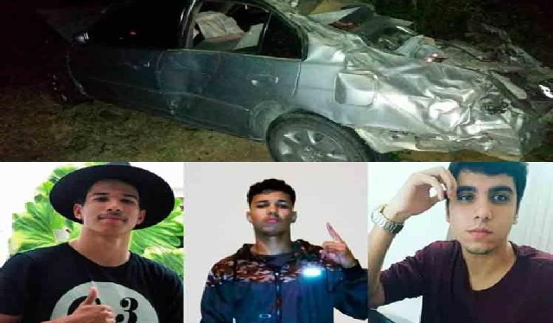 Acidente deixa três jovens mortos