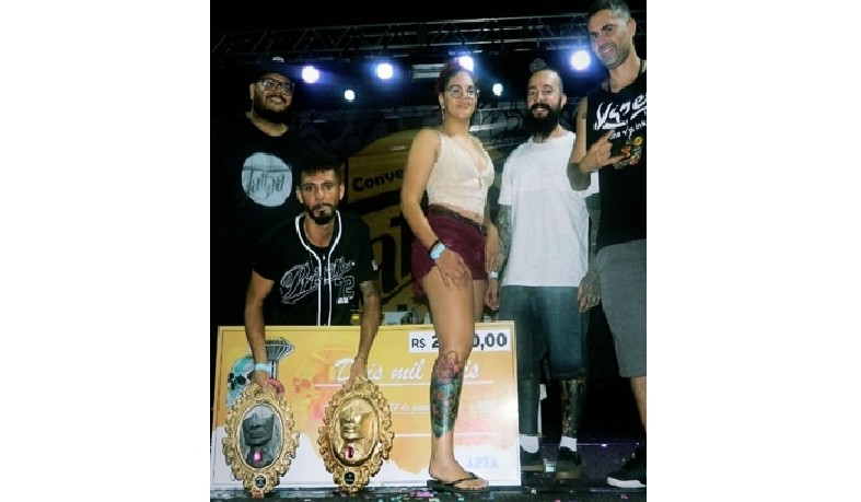 O luzense levou para casa a maior premiação do evento, um cheque de 2 mil reais.