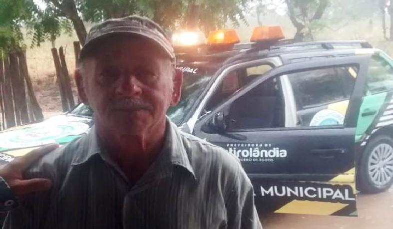 Ele foi encontrado por agentes da Guarda Civil Municipal, na localidade de Alto Alegre, na divisa com Valente