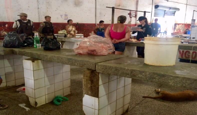 650 quilos de carnes e vísceras de bovinos, suínos e caprinos em condição irregular durante operação do MP-BA