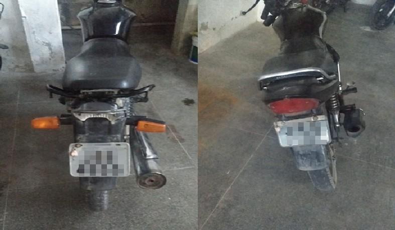 As duas motocicletas foram removidas até o pátio da Delegacia de Polícia Civil da cidade.