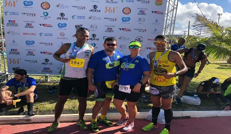 Atletas do Grupo Esporte Saúde e Vida (GESV) e da Equipe WT Engenharia