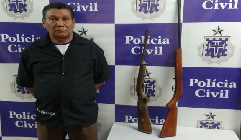 Idoso foi preso em Pindobaçu, norte da Bahia, na quarta-feira (12)