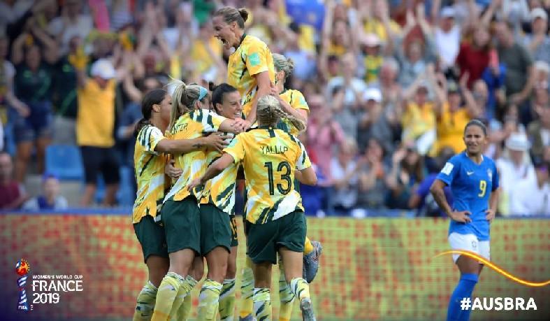 Brasil cedeu a virada para as australianas.