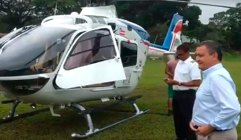 Helicóptero do governador Rui Costa fez pouso de segurança no sul da Bahia