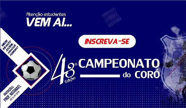 O Campeonato acontecerá entre os dias 19 e 23 de agosto.