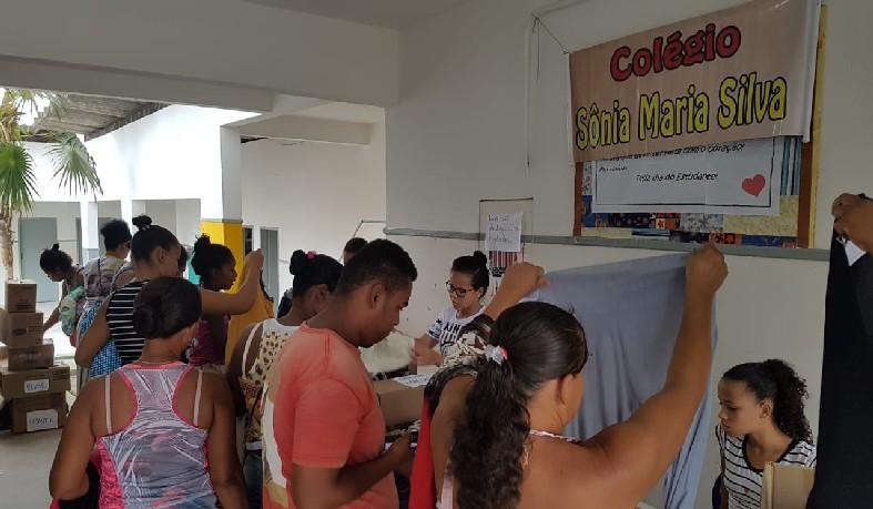 Bazar Solidário do Colégio Municipal Sônia Maria