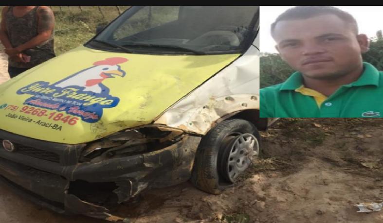 Jovem morre em acidente, na zona rural de Araci