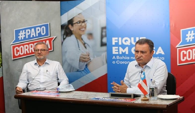 Acompanhado pelo secretário estadual da Saúde, Fábio Vilas-Boas, Rui destacou que as ações são motivadas pelo atraso na chegada dos respiradores.