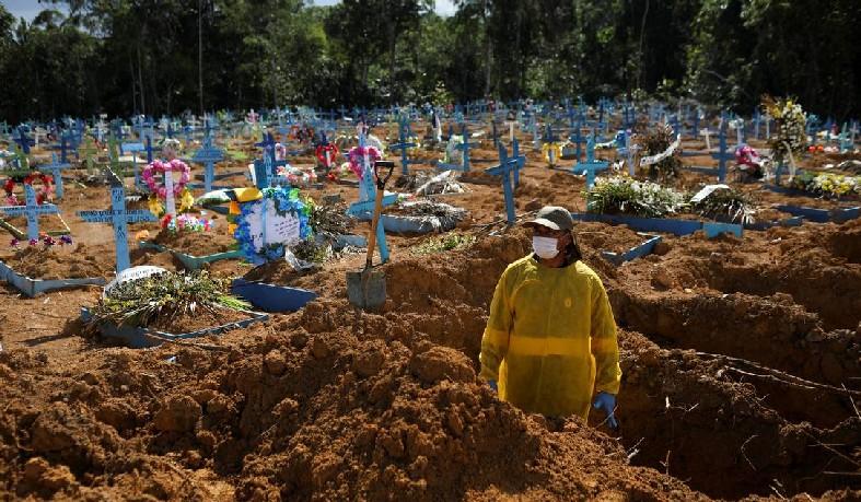 Só outros dois países em todo o mundo já ultrapassaram mais de 4.000 mortes em um só dia