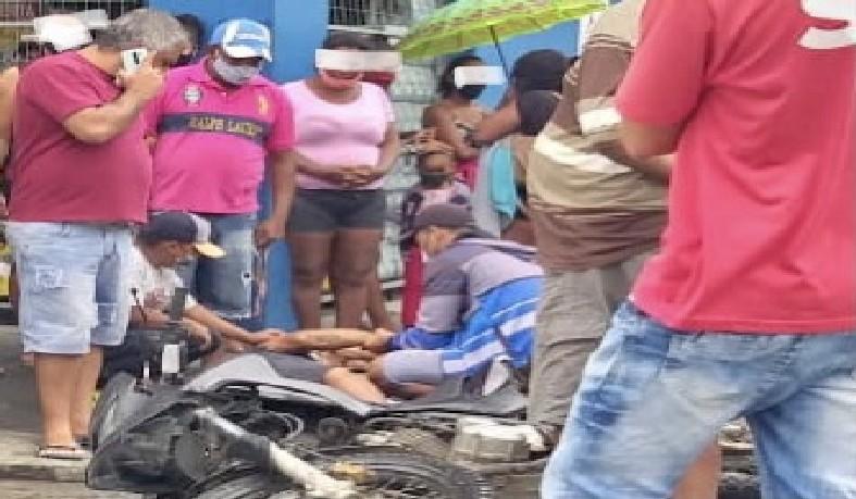 Acidente ocorreu no Centro de Santaluz