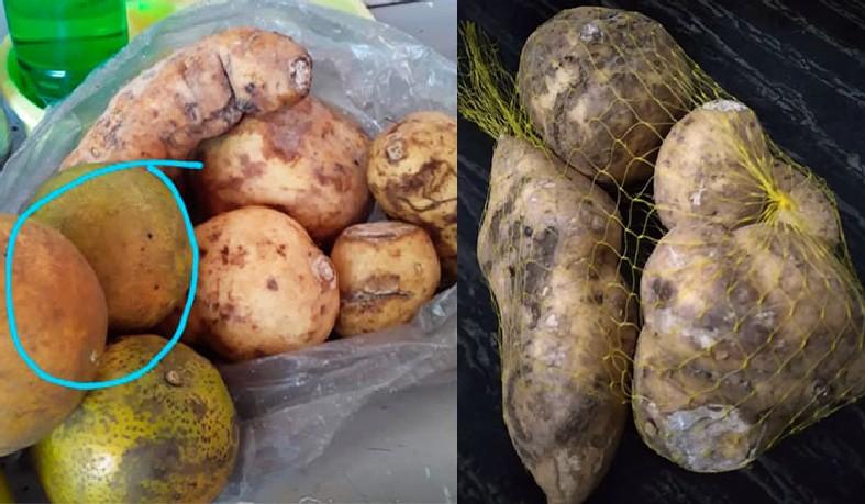 As maiores reclamações são do estado das batatas e laranjas que, segundo as mães, estariam estragadas.