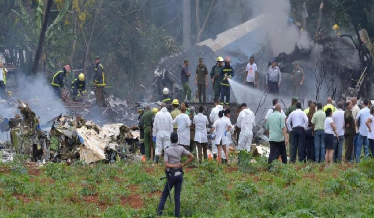 A aeronave caiu pouco tempo depois de ter decolado do aeroporto internacional de Havana com 110 pessoas.