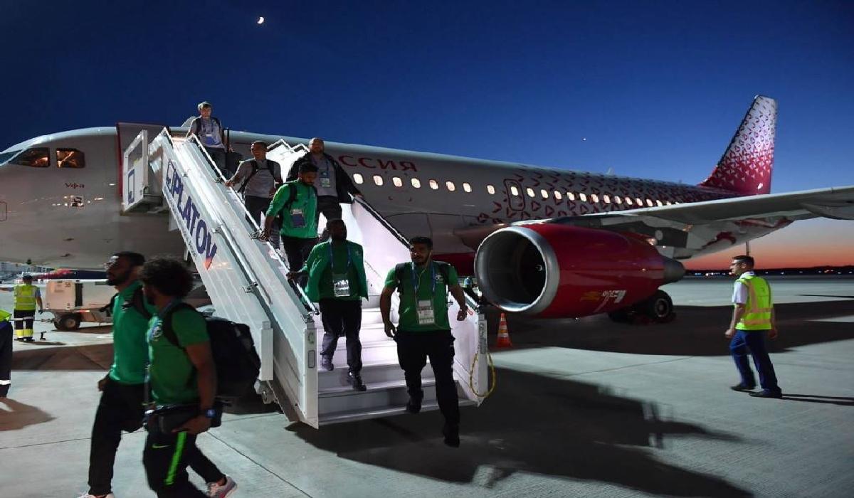 Mesmo com o susto, a seleção saudita chegou sem problemas em Rostov