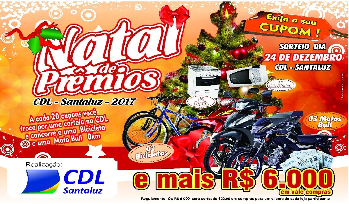 Os sorteios e o bingo serão realizados no dia 24 de dezembro, em frente à CDL.