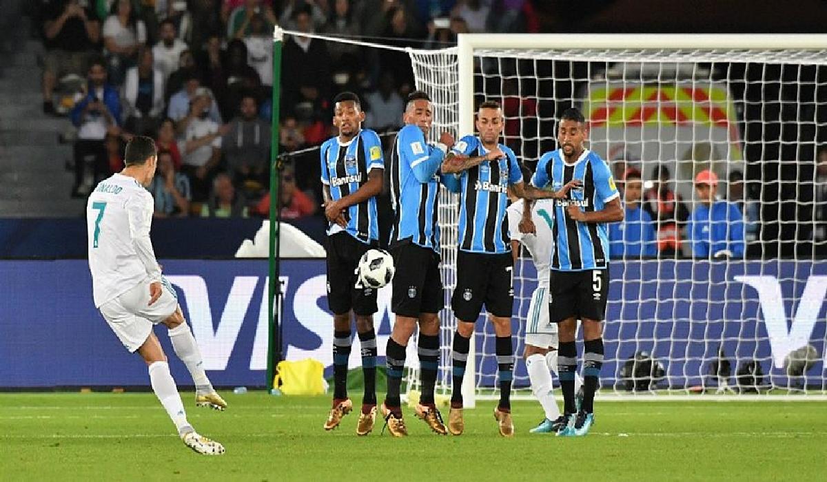ristiano Ronaldo cobrou falta forte e marcou o único gol da partida