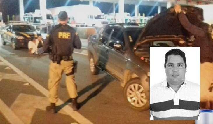 Ernesto de Santana (SD) foi flagrado com carro roubado em Vargem. À polícia, ele disse que havia vindo para comprar o carro por R$ 10 mil.
