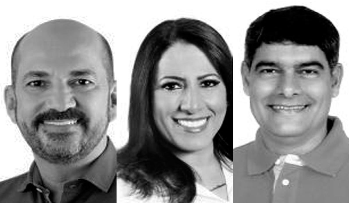 osé Robério (esq), Claudia Oliveira e Agnelo Santos (dir) são os prefeitos afastados na Operação Fraternos, que investiga fraudes em contratos no sul da Bahia.