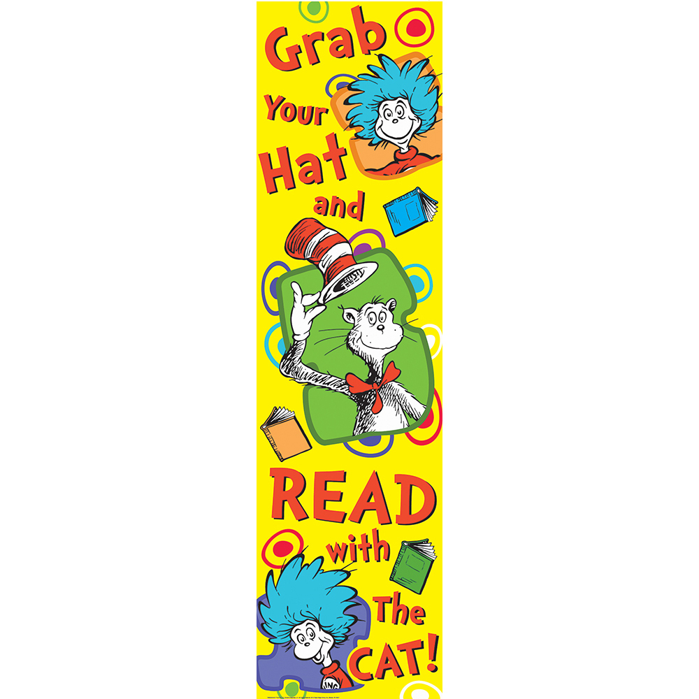 EU 849033 DR SEUSS GRAB YOUR HAT BANNER