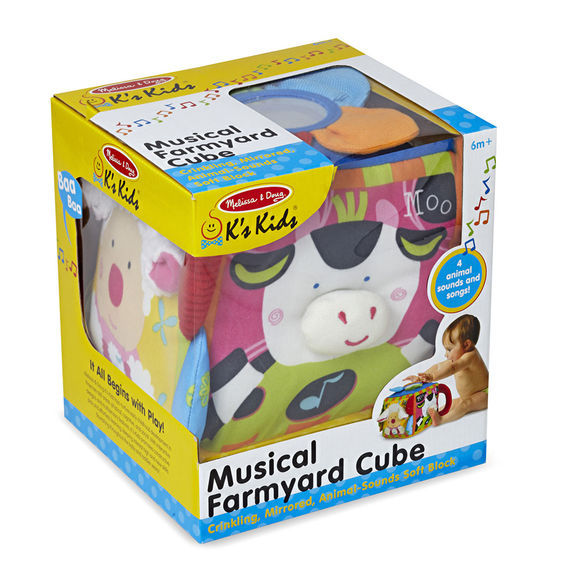 MD 9177 MUSICAL FARMYARD CUBE