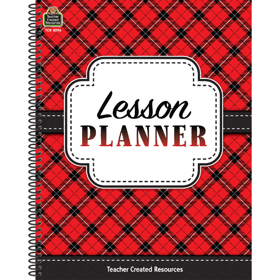 TCR 8296 LESSON PLANNER RED PLAID