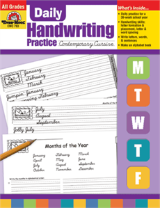 EMC 793 DAILY HANDWRITING CONTEMPORARY CURSIVE