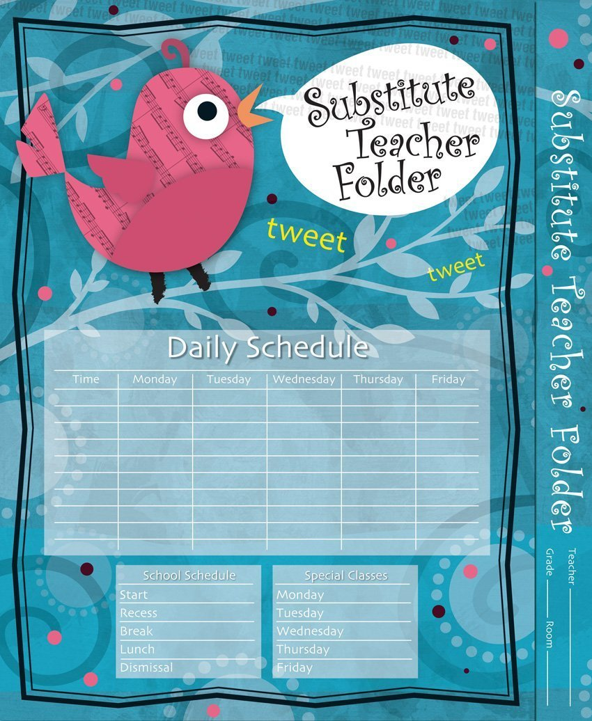 CD 136000 SONG BIRD SUB. TEACHER FOLDER