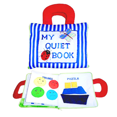 My Quiet Soft PLay Book - Blue Stripe
