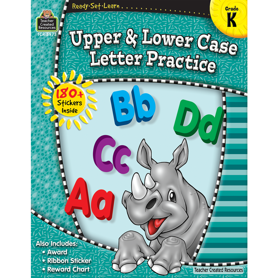 TCR 5973 READY-SET-LEARN UPPERCASE LOWERCASE LETTER PRACTICE K