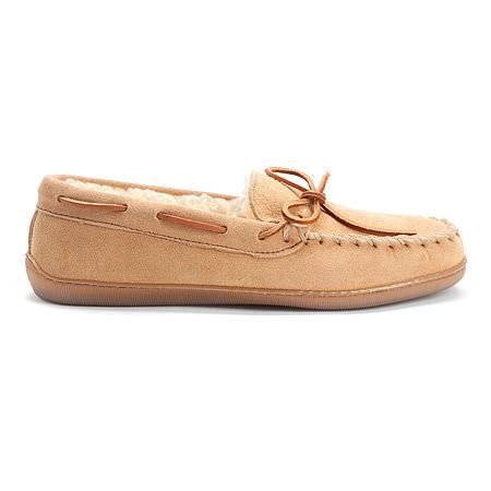 76a86e5f012 Minnetonka Men s Pile Lined Hardsole Suede Leather - Tan