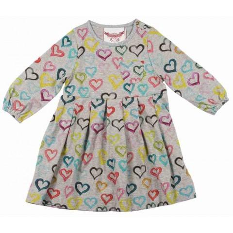 Little Wings Smock Dress - Hearts